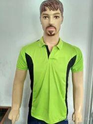 Lycra Cotton Green Sports T-Shirts