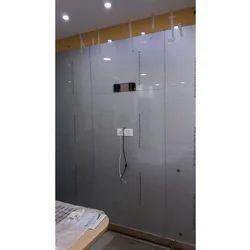 Transparent Flat Door Glass