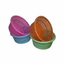 Round Plastic Storage Basket