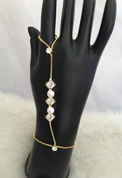 New Stylish AD Diamond With Pearl Bracelet