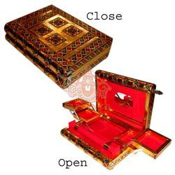 Meena White Metal Jewellery Box
