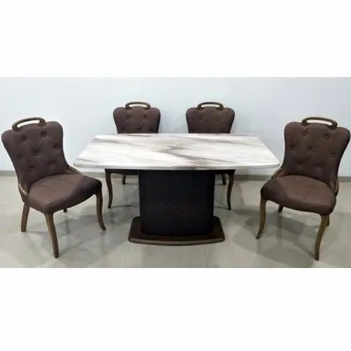 30 Inch Square Marble Top Dining Tables Rs 64000 Set Vijay Trading Company Id 21038079488
