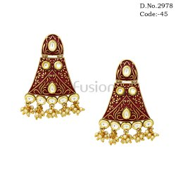 Meenakari Kundan Earrings