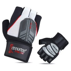 Cockatoo Black & Grey ProLine Professional Gym Gloves With Wrist Support