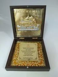 Golden Temple Gold Plated Photo Frame Box