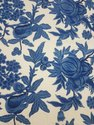 Lucky Blue Melon Crewel Fabric