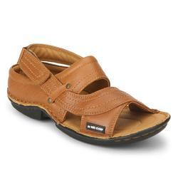 Tan Low Ankle Slip On Sandal
