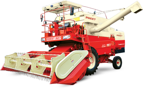 Preet 987, 14 feet, 101 hp Combine Harvester, 5 Straw Walker