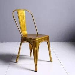 Gold Color Metal Chair