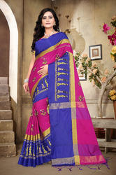 Very Beautiful Table Print Cotton Silk Saree