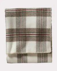 Eco Friendly Cotton Yarn Dyed Plaid Blanket