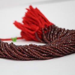Natural Red Garnet Faceted Rondelle Beads 4mm