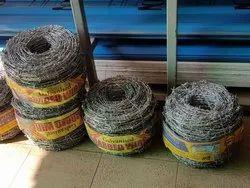 Silver Galvanized Iron Galvonised Barbed Wire, Size: 850ft