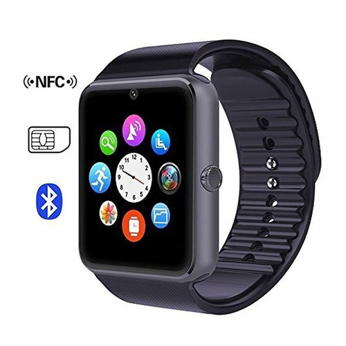Black Unisex Gt-08 Smart Watches