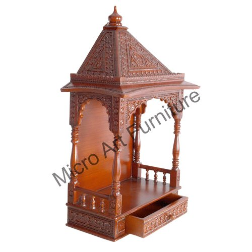 Carved Teak Wood Temple