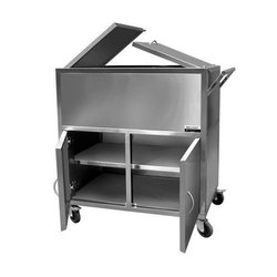 Welcraft Healthcare Stainless Steel Distribution Trolley, For Hospital