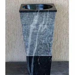 Capstona Taper Triton Black Marble Wash Basin