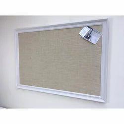 Wall Mounting Rectangular Pin Notice Board, Frame Material: Durable Aluminium