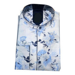 Mens Cotton Full Sleeves Printed Shirt, Size: S-XXL