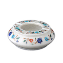 Marble White Stone Inlay Ashtray