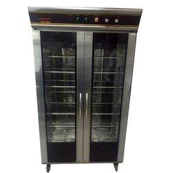 Glass and SS Electric Double Door Vertical Refrigerator