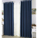 Ice Crush Plain Double Color French Window Curtain