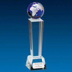 Globe Designer Crystal Trophy