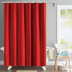 72 x 84 Inch Solid Wave Red Shower Curtain
