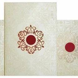 Paper Single Fold Insert Designer Wedding Cards