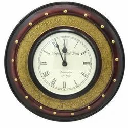 Brass Carved Wall Clock