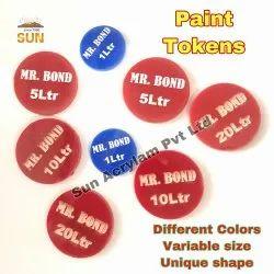 Plastic Acrylic Coin