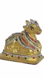 24 Carat Gold Plated Nandi Statue