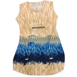 Girls Chiffon Round Neck Party Wear Top