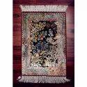 Rectangular Multicolor Silk Floor Carpet