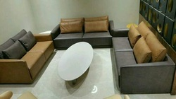 NICEWOOD Wooden Sofa, Shape: L Shape