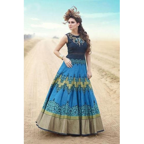 49949a4a8 Ladies Gown - Ladies Printed Gown Manufacturer from Surat