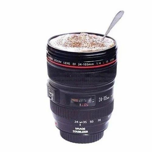 Plastic Black Camera Lens Cup Travel Mug Coffee Caniam Ef 24-105Mm