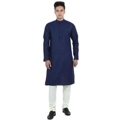 e473b710 Cotton Navy Blue Party Wear Kurta Pajama Set, Size: 38-44, Rs 425 ...