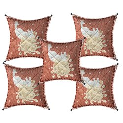 Silver Gold Printed  Cushion Cover Set of 5