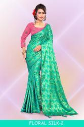 Right One Fashion Floral Silk-2 Stylish Party Wear Jacquard Saree