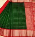 Zari Checks Kuppadam Silk Cotton Saree