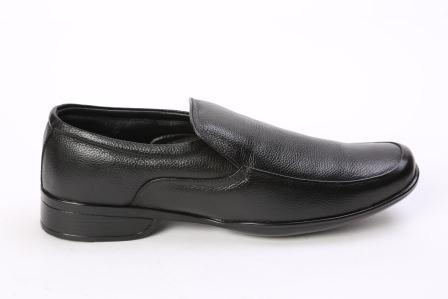 Tuff Boy Black Formal Mens Shoes, Size