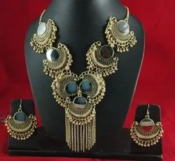 Gold Party NK Handmade New Bali Necklace Set Golden