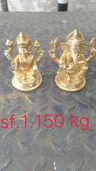 Rajasthan Craft Art Golden (Gold Plated) Brass Laxmi Ganesh