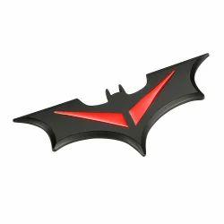 3d Red Metal Bat Logo Car Styling Car Sticker Batman Badge Emblem (big)