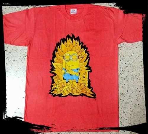 0b02308d7 Handpainted Minion Tee Shirt, Size: Medium, Large, XL, Rs 300 /piece ...