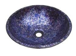 table top Multicolor Mosaic Wash Basin, For hotels, home