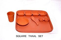 Clay Square Thaal Set