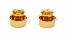 Traditional Brass Davara Tumbler Set/ South Indian Coffee Glass Tumbler Set Of Two/ Brass Dabara Tum