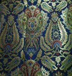 Silk, Zari etc. Silk Brocade Fabric, GSM: >250